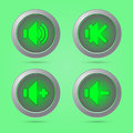 Green color sound button Royalty Free Stock Photo