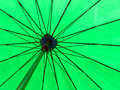 Green color umbrella close up Royalty Free Stock Photo