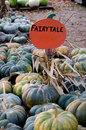 These green colored gourds are called fairytale pumpkins and are a wonderful fall decoration they are so named because they Stock Photo