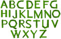 Green colored letters of the alphabet illustration on a white background Royalty Free Stock Photo
