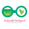 Green concept in eyeglasses vector illustration Stock Image