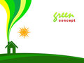 Green concept home Royalty Free Stock Image