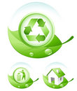 Green concept icons Royalty Free Stock Photo