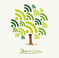 Green concept share icon tree save the earth idea with set this illustration is layered for easy manipulation and custom coloring Royalty Free Stock Image