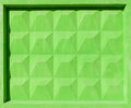 Green concrete fence block abstract construction photo texture with bright Stock Photos