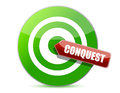 Green conquest darts target aim Royalty Free Stock Images
