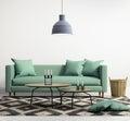 Green contemporary modern sofa Royalty Free Stock Photo