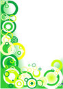 Green corner (circles) Royalty Free Stock Photography