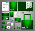 Green corporate Identity. Set with Technology designs.