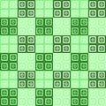 Green and cream and white squares inside squares cube pattern background Royalty Free Stock Photo