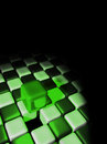 Green cube above other cubes Stock Images