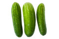 Green cucumbers Stock Images