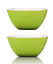 Green cup or bowl isolated with clipping path in Stock Image