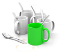 The green cup d generated picture of a stand out Royalty Free Stock Photo