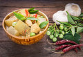 Green Curry Chicken With Wax G...