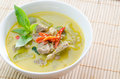 Green curry with pork thai food Royalty Free Stock Photos