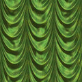 Green curtains vintage satin with pattern background Royalty Free Stock Photography