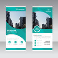 Green curve polygon astract triangle Business Roll Up Banner flat design template ,Abstract Geometric banner template Vector Royalty Free Stock Photo