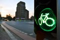 Green for cyclists germany berlin hunger center sfetovora signal Stock Images