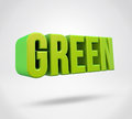 Green d render text on isolated background Royalty Free Stock Photos