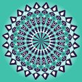 Green and dark purple mandala for balanced mind obtaining. Royalty Free Stock Photo