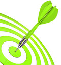 Green dart d illustration of Royalty Free Stock Images