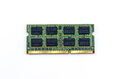 Green ddr ram stick on isolated background close up double data rate random access memory Royalty Free Stock Image