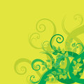 Green decorative floral background Royalty Free Stock Images