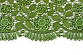 Green decorative lace Royalty Free Stock Photography