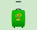 Green decorative suitcase holiday backround Stock Photography