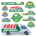 Green delivery Royalty Free Stock Photos