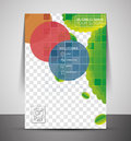 Green design business corporate print template cmyk a Stock Image
