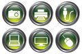 Green Device Buttons Royalty Free Stock Photography