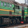 Green diesel locomotive