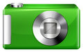 A green digicam Royalty Free Stock Photo