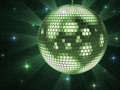 Green disco ball Royalty Free Stock Images
