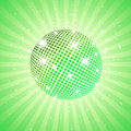 Green disco ball Stock Photo