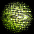 Green disco lights background vector Royalty Free Stock Photography