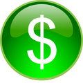 Green dollar button Royalty Free Stock Photo