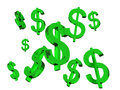 Green dollar sign image of many Stock Image