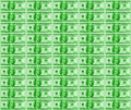 Green Dollars Background Stock Photo