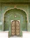 Green door, City Palace, Jaipur Stock Photography
