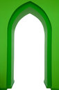 Green draft of gothic portal Royalty Free Stock Images