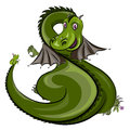 Green dragon and frog Royalty Free Stock Photo