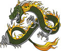 Green Dragon Illustration Stock Photography