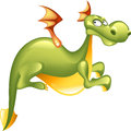 Green dragon isolated on white background Royalty Free Stock Photo