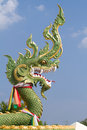 Green dragon sculpture Stock Photos