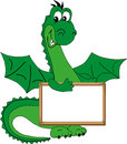 Green dragon smiling. Stock Photography
