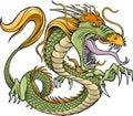 Green Dragon Vector Royalty Free Stock Photo