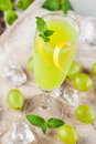 Green drink with grapes Royalty Free Stock Photo